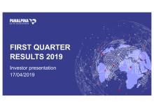 First Quarter Results 2019 – Investor Presentation