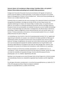 Populärvetenskaplig sammanfattning av Anna Gunds avhandling inom e-hälsa