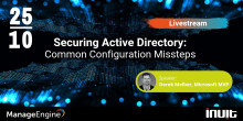 Live webcast: Securing Active Directory: Common Configuration Missteps