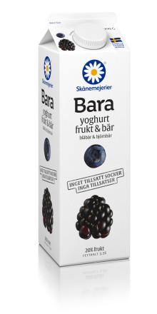 """Skånemejerier lanserar nästa generations mejeriprodukter: """"Bara"""" – en yoghurt med frukt och bär, helt utan tillsatt socker eller tillsatser"""