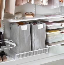 Vad gör jag med överflödiga kläder och skor som tar plats i garderoben?