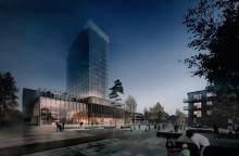 Bygget av Sara kulturhus tar nästa steg – första hotellmodulen på plats