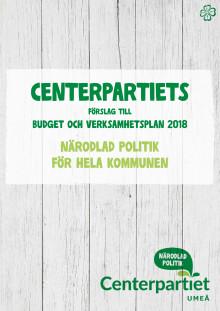 Centerpartiet i Umeås budgetförslag för 2018