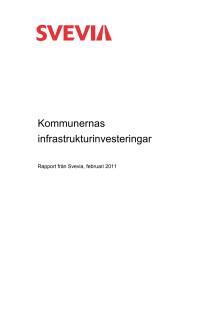 Rapport Kommunernas infrastrukturinvesteringar