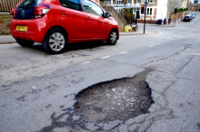 Drivers more than twice as likely to breakdown due to hitting a pothole than 12 years ago