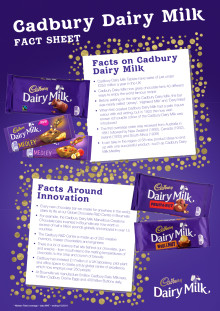 Cadbury Dairy Milk and Innovation Fact sheet