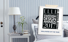 Boråstapeter wins at the Elle Decoration Swedish Design Awards – Sissa Sundling picks up the Wallpaper of the Year prize for the Lexington collection