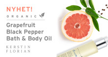 NYHET! Organic Grapefruit Black Pepper Bath & Body Oil