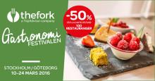 Den stora succén från i höstas - Gastronomifestivalen - är tillbaka! Sveriges matfestival med det oslagbara erbjudandet – 50% på à la carte-meny.