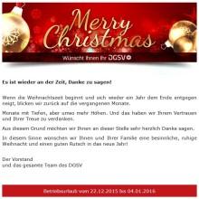 DGSV Weihnachswünsche