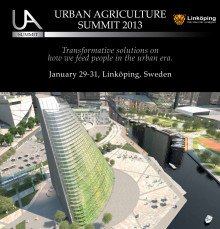 Invitation to The Urban Agriculture Summit 2013 in Linköping - first page