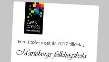 Marieborgs Folkhögskola fick årets Fem i tolv-pris