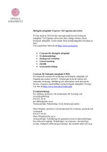 Experter på biologisk mångfald vid Uppsala universitet