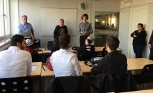 Anna Kinberg Batra besökte Framtidsgymnasiet i Göteborg