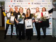 Stolta vinnare på Stellagalan,  prisgala för kvinnor inom gastronomin