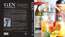 """Omslag """"Gin - en kärlekshistoria"""" fram och baksida"""