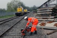 Komplett sortiment kappe- og slipeskiver for jernbaneskinner