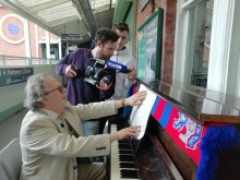 Champions League anthem composer pays special visit to Thornton Heath station