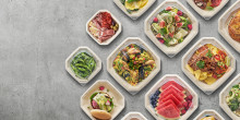 Duni launches bagasse lids for Octabagasse take-away box concept
