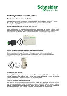 Produktnyheter från Schneider Electric