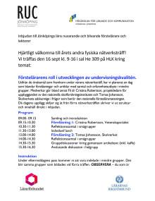 Program 16 september 2014