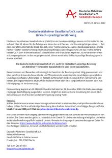 Stellenausschreibung DAlzG_Alzheimer-Telefon