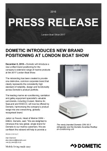 Dometic Introduces New Brand Positioning at London Boat Show