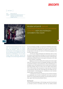 Case study - Boliden Mineral AB