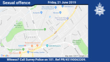 Witness appeal following incidents of a sexual offence in Epsom