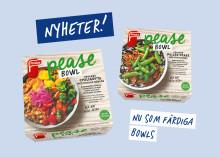 Findus lanserar Pease Bowls: veganska färdigrätter gjorda på ärtprotein