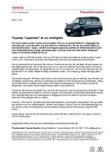 """Toyotas """"supertaxi"""" är nu verklighet"""