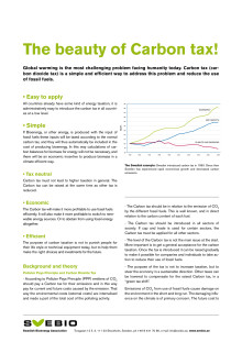 The beauty of carbon tax