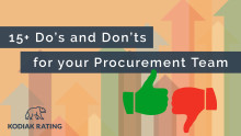 15 Do's & Don'ts for your Procurement Team