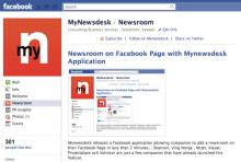 Newsroom on Facebook Page with Mynewsdesk Application