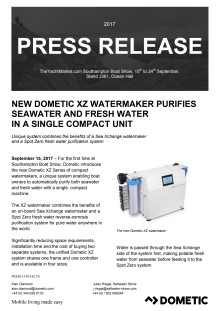 New Dometic XZ Watermaker Purifies Seawater and Fresh Water in a Single Compact Unit