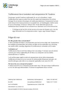 Frågor och svar om Vasabron