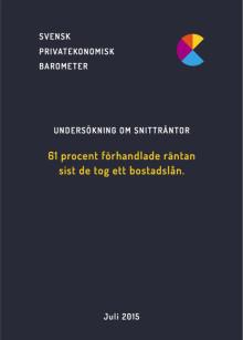 Undersökning: Svenska folket om snitträntor