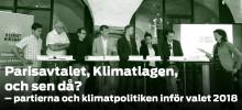 Klimatpolitisk debatt med alla 8 riksdagspartier