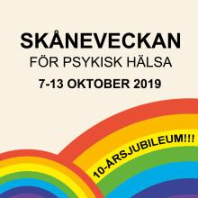 Skåneveckan firar 10-årsjubileum med rekordmånga arrangemang om psykisk hälsa