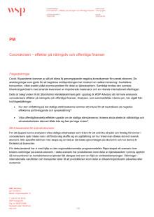 Coronakrisen - effekter på näringsliv och offentliga finanser