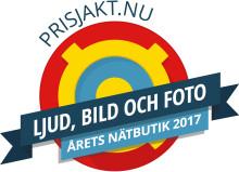MediaMarkt vinnare i Prisjakts tävling Årets Nätbutik, kategorin Ljud, bild och foto