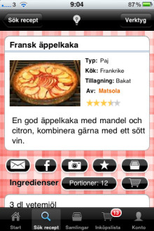 Kokaihop.se i mobilen - en succé