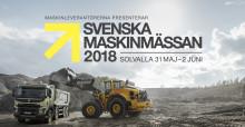 Svenska Maskinmässan 2018 - besök Volvo och Swecon på Solvalla den 31 maj till 2 juni