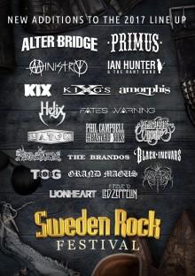 Alter Bridge, Primus, Ministry med flera klara för Sweden Rock Festival!