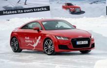 Audi bjuder på avancerad körning under Skid-VM i Falun