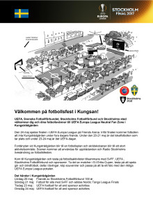 Program Fan Zone i Kungsträdgården