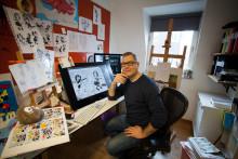 Han är Sveriges nya Kalle Anka-tecknare