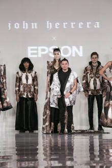John Herrera og Epson samarbeider om ørneinspirert haute couture-kolleksjon ved London Fashion Week