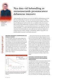 Överläkare Magnus Fovaeus: Nya data vid behandling av metastaserande prostatacancer debatterades intensivt, ASCO 2012