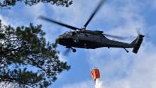 Pressträff med ÖB och försvarsministern  med anledning av brandbekämpningen